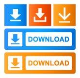 Downloadknopen geplaatst eps stock illustratie