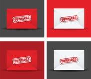 Downloads envelope set Royalty Free Stock Image