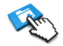 Downloads folder Icon. 3D Illustration Downloads folder Vector Icon Royalty Free Stock Photo
