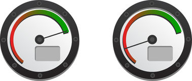 Downloads Speedometer. With Two Emblems For Slow And Fast Connection. Included EPS 10 Royalty Free Stock Image