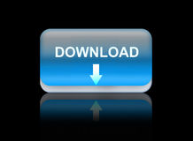 downloads web button Royalty Free Stock Photos
