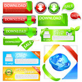 Downloadverkaufs-Ikonenset Lizenzfreies Stockfoto