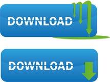 Downloadweb-Tasten Lizenzfreie Stockfotografie