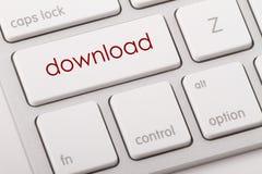 Downloadwort auf Tastatur Lizenzfreie Stockbilder