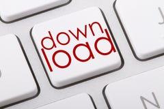 Downloadwort auf Tastatur Lizenzfreie Stockfotografie