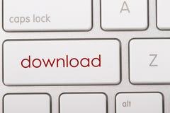Downloadwort auf Tastatur Stockbilder