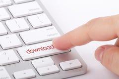 Downloadwort auf Tastatur Stockfotografie