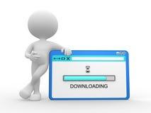 Downloadzeichen auf Schirm Lizenzfreies Stockfoto