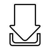 Downloaf del icono aislado Internet Fotografía de archivo