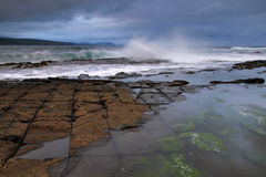 Downpatrick Head. Storm at Downpatrick Head, Co. Mayo, Ireland Royalty Free Stock Photography
