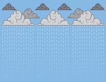 Downpour Blue. Downpour of rain with blue sky Stock Photos