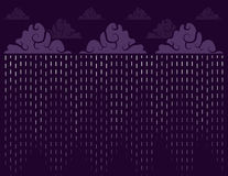 Downpour Purple. Downpour of rain with purple sky Royalty Free Stock Photos