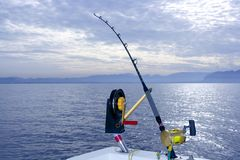 Downrigger boat gear saltwater trolling tackle royalty free stock images