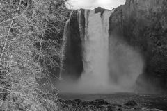 Downriver Snoqualmie Falls 3. A view of Snoqualmie Falls from downriver Stock Photos