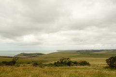 Downs landscape near Eastbourne Royalty Free Stock Photo