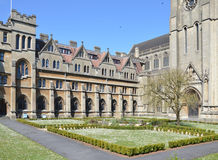 Downside Abbey forecourt. Downside abbey is a benedictine monastery. Photo taken April 2015 Stock Image