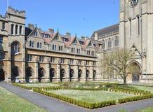 Downside Abbey forecourt Stock Image