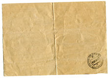 Downside telegram bearing the stamp of post office Stock Photo