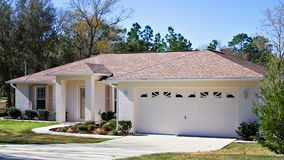 Downsize for Retirement. A small home in Florida owned by retired senior Stock Photos
