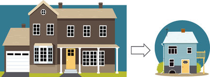downsizing illustration de vecteur