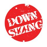 Downsizing stamp typ. Downsizing stamp. Typographic label, stamp or logo Stock Photography