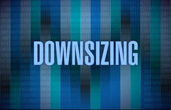 Downsizing text on a binary background. Illustration design Stock Photos