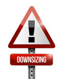 Downsizing warning sign illustration design. Over a white background Royalty Free Stock Photography