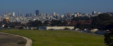 Downsotn San Francisco und Crissy Feld Stockbild