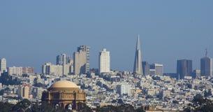 Downsotn San Francisco y el palacio de bellas arte Imágenes de archivo libres de regalías
