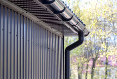 Downspout пластмассы Брайна Стоковое Фото