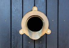 Downspout de bronze da calha Fotografia de Stock