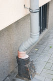 Downspout eind royalty-vrije stock afbeelding