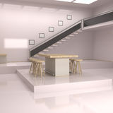Downstairs in Modern House Royalty Free Stock Images