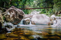 Downstream of Gunung Stong Waterfall Stock Photo