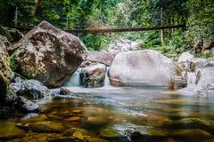 Downstream of Gunung Stong Waterfall. View of calmer downstream Gunung Stong Waterfall at Dabong, Kelantan Stock Photo
