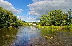 Downstream of Newby Bridge Royalty Free Stock Image