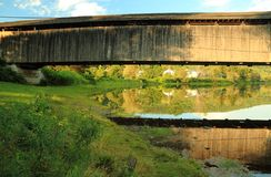 Downsville Bridge Green Bank Royalty Free Stock Photos