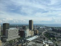 Downtown Buffalo New York. View of downtown Buffalo NY from City Hall Royalty Free Stock Photography