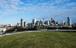 Downton Calgary de la punta de visita turístico de excursión Foto de archivo libre de regalías