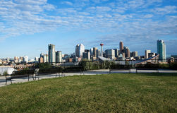 Downton Calgary from sightseeing point Royalty Free Stock Photo