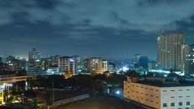 Downtowm Dar Es Salaam bij Nacht stock afbeelding