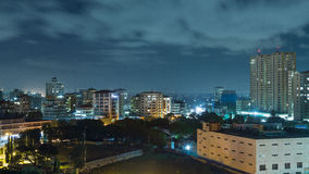 Downtowm Dar Es Salaam at Night Stock Image