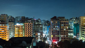 Downtowm Dar Es Salaam at Night Stock Photography