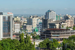 Downtowm Dar Es Salaam. View of the downtown area of the city of Dar Es Salaam, Tanzania Royalty Free Stock Images