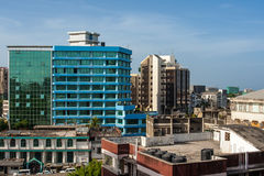 Downtowm Dar Es Salaam. View of the downtown area of the city of Dar Es Salaam, Tanzania Royalty Free Stock Photography