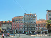 Downtowm Lisbon at daytime Royalty Free Stock Photography