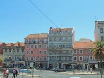 Downtowm Lisbon at daytime Royalty Free Stock Photography