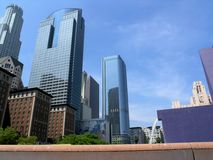 Downtown. View from Pershing square stock photography