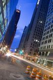 Downtown. The beginning of a new day in the city Stock Photography