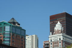 Downtown. The Downtown Des Moines Skyline Royalty Free Stock Photography